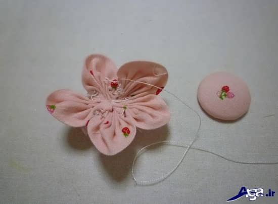 نحوه ساخت گل تزیینی با پارچه