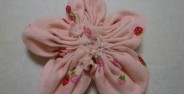 ساخت گل با انواع پارچه ساده