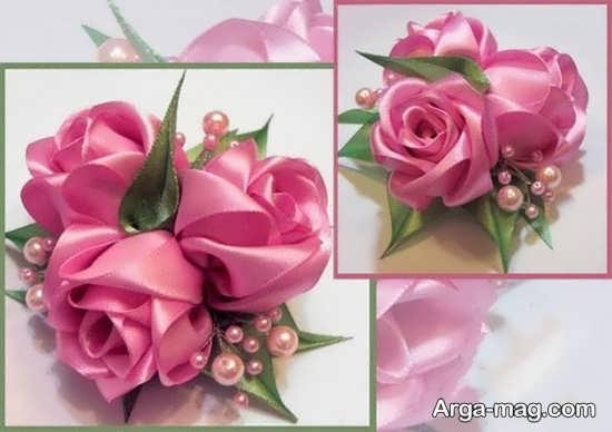 ساخت گل رز با پارچه