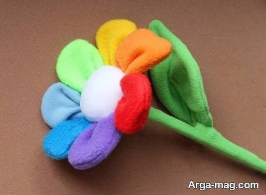 ساخت کاردستی گل با پارچه