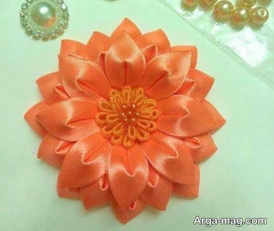 ساخت گل زیبا با پارچه