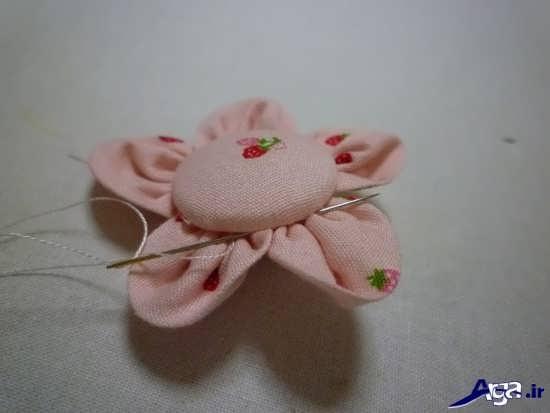 ساخت گل های پارچه ای