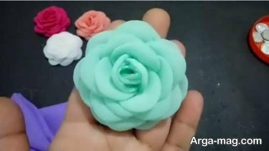 ساخت گلی زیبا با پارچه
