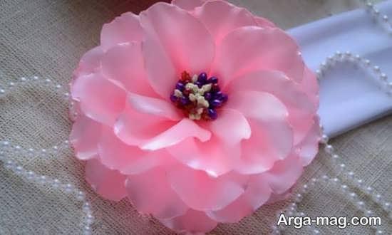 ساخت گل داودی با پارچه