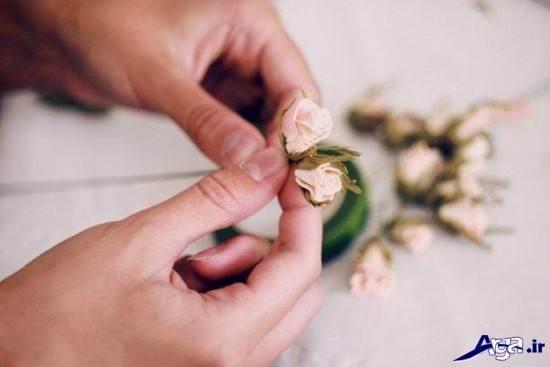 گلسازی گل رز با فوم