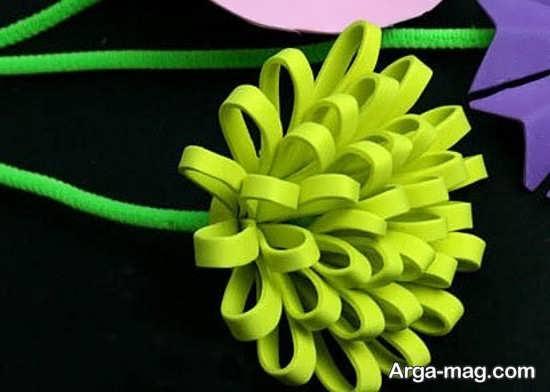 گل سازی با فوم سبز