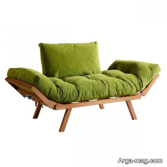 مبل تختخواب شو چوبی