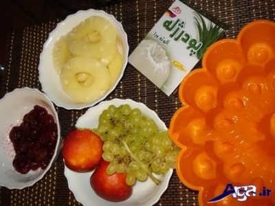 طرز تهیه دسر با ژله میوه ای