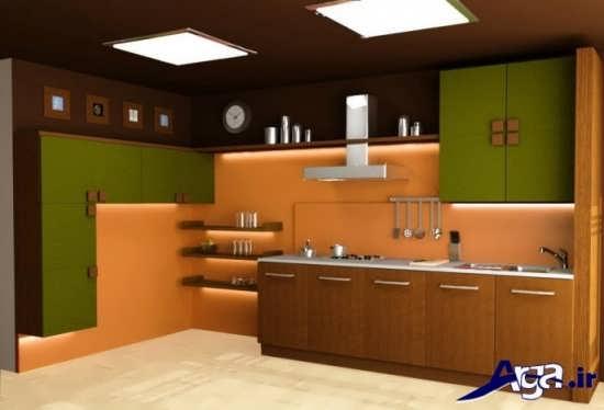 طرح های زیبا و جدید کابینت آشپزخانه گلاس