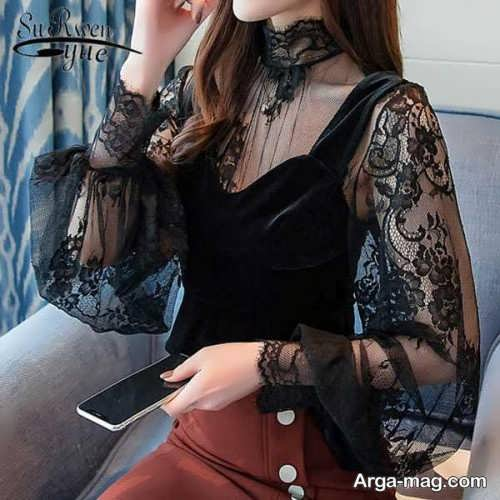 مدل لباس گیپوردار شیک
