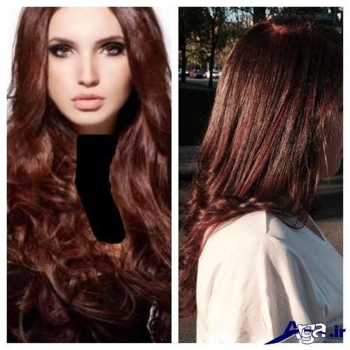 رنگ موی زیبا و جدید دارچینی