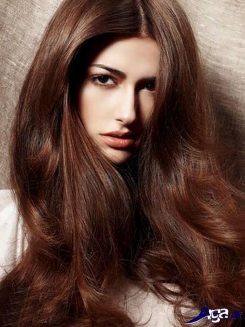 رنگ موی دارچینی زیبا و متفاوت