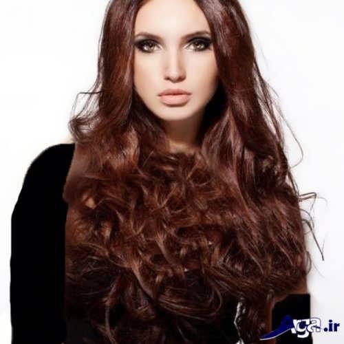 رنگ موی زیبا دارچینی