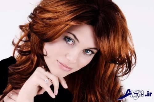 رنگ موی زیبا و بی نظیر دارچینی