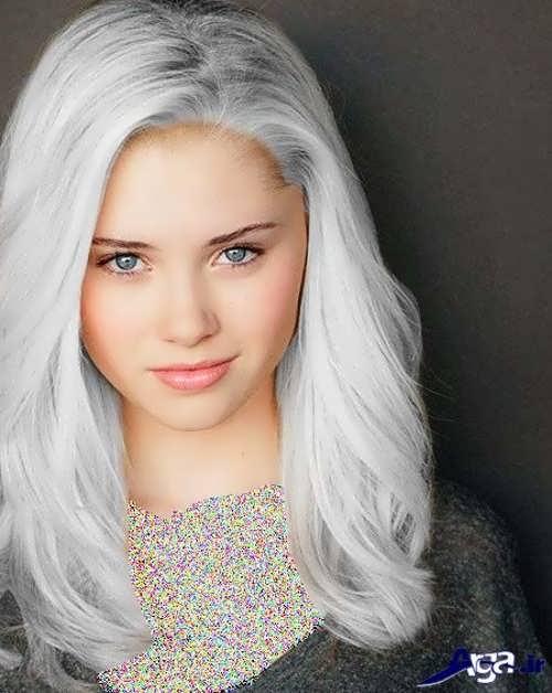 رنگ موی یخی نقره ای
