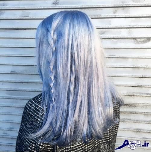 رنگ موی یخی آبی