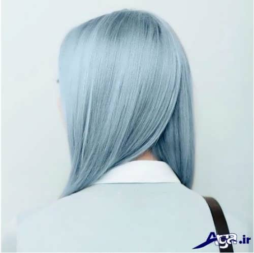 رنگ موی یخی ( آبی )