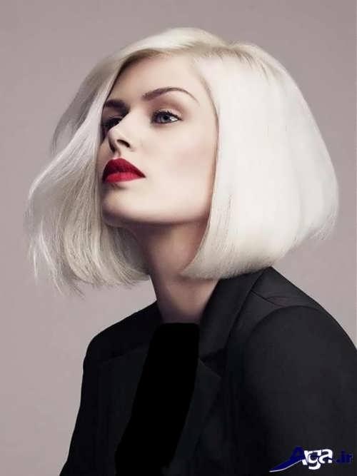 مدل موی کوتاه با رنگ مو یخی