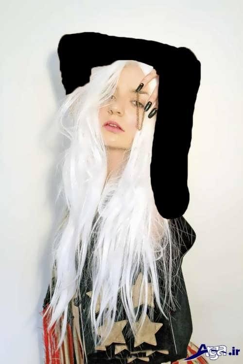 رنگ موی زیبا یخی