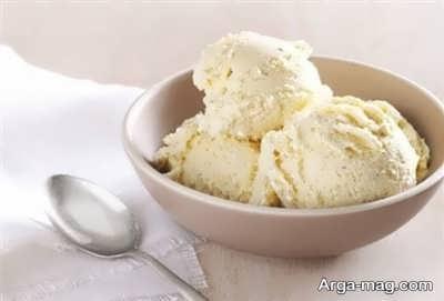 دستور تهیه بستنی وانیلی شیر عسلی