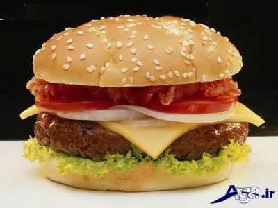 ساندویچ همبرگر خوشمزه