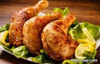 آموزش تهیه مرغ زعفرانی در فر