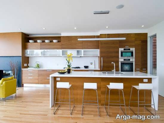 دیزاین آشپزخانه بزرگ