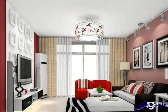دیزاین اتاق پذیرایی مدرن و زیبا