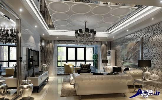 دیزاین اتاق پذیرایی شیک و زیبا