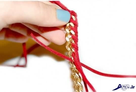 ساخت دستبندهای چرمی ساده