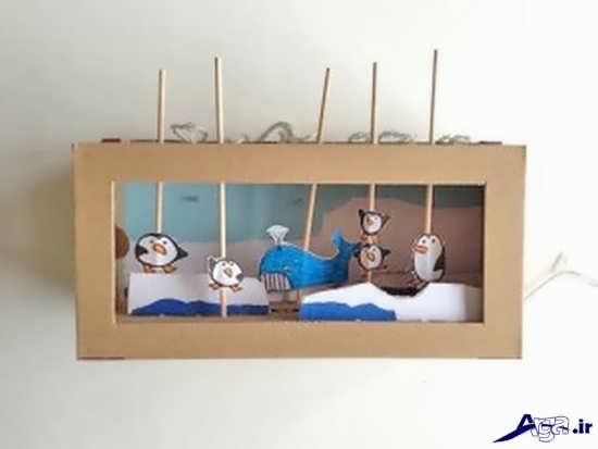 ساخت کاردستی با جعبه دستمال کاغذی