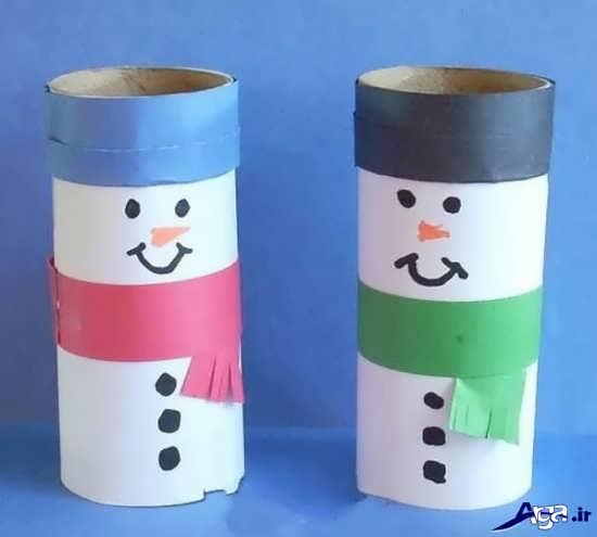 کاردستی با رول دستمال کاغذی
