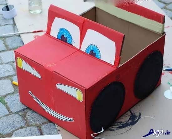 کاردسیت ماشین با جعبه دستمال کاغذی