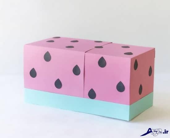 کاردستی میوه با جعبه دستمال کاغذی