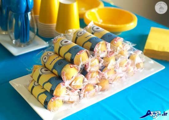 تزیین خوراکی های تولد با تم مینیون