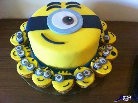 عکس کیک جشن تولد مینیون ها