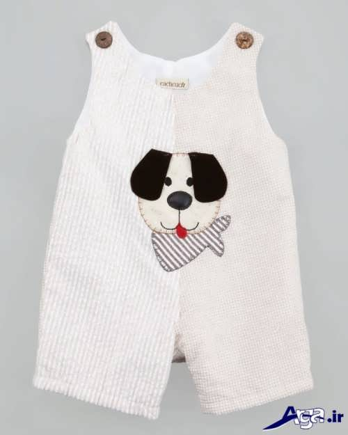 لباس نوزادی با طرح عروسکی