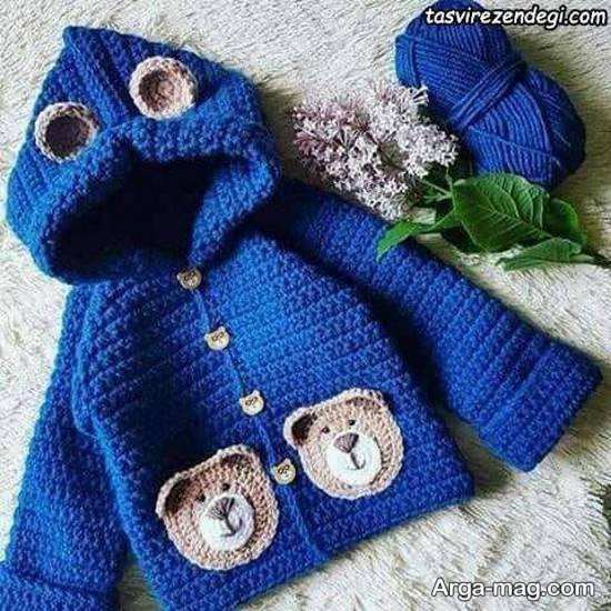 مدل بافت لباس نوزادی پسرانه