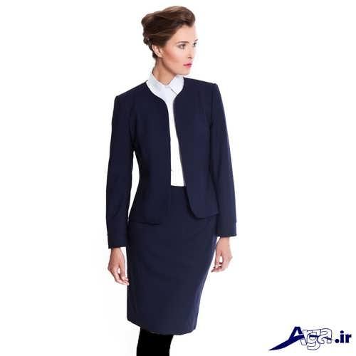کت و دامن سورمه ای زنانه