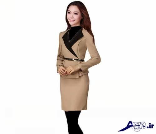 طرح های زیبا و جدید کت و دامن