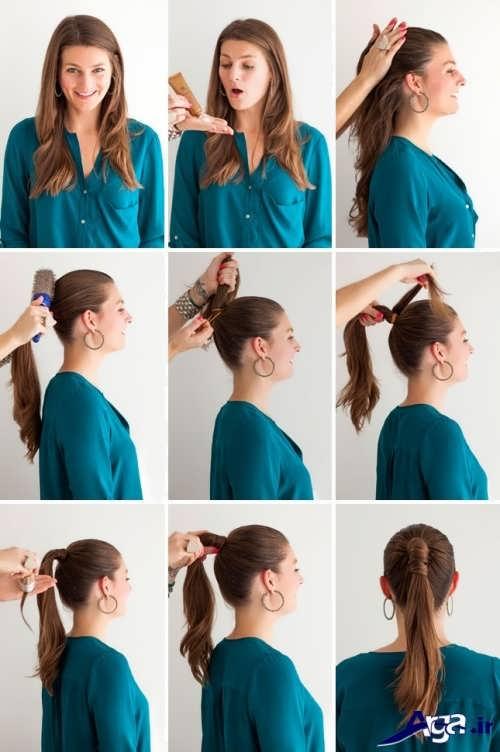 آموزش بستن موی زنانه دم اسبی