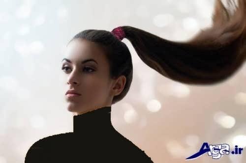 مدل موی ساده دم اسبی