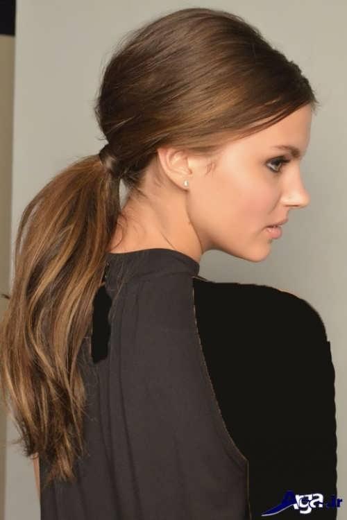 ساده ترین مدل موهای دم اسبی
