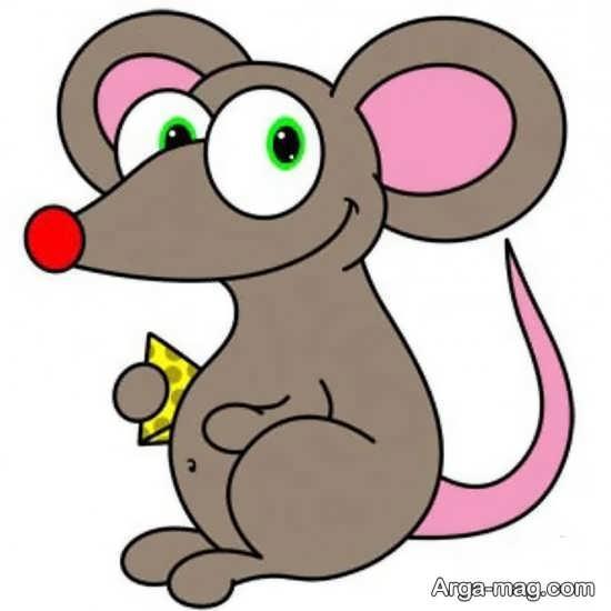 رنگ آمیزی موش کارتونی