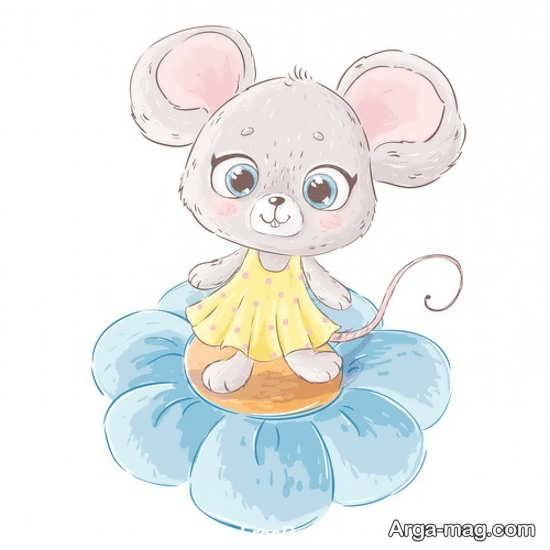 رنگ آمیزی زیبای موش
