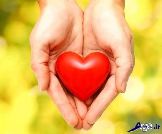 عکس زیبای قلب در دست