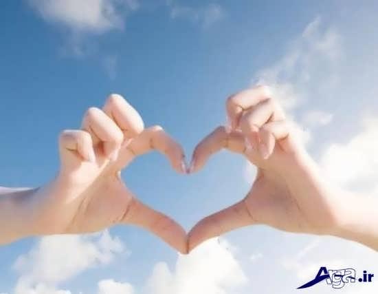 عکس قلب با انگشتان دست
