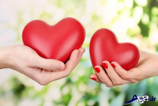 عکس قلب برای پروفایل زوج های جوان