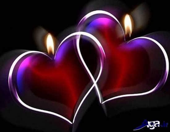 عکس هیا قلب عاشقانه و زیبا