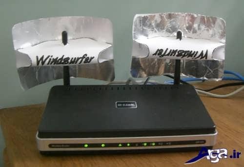 وشاندن آنتن های وای فای با فویل برای ارسال سیگنال کمتر